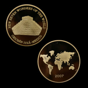 The-Seven-Wonders-Gold-Plated-Commemorative-Coins-Challenge-Coin-Souvenir-Gifts