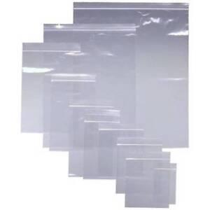 Grip-seal-sacs-auto-auto-adhesive-mini-poly-plastique-transparent-zip-lock-bags-toutes-tailles