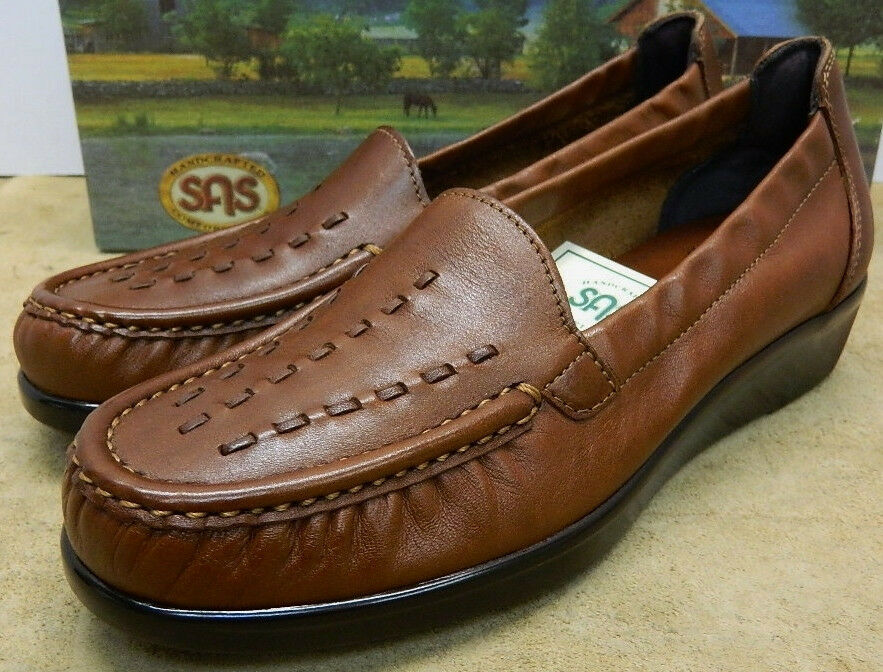 SAS Weave Chestnut moccasin Damens's comfort schuhe made in USA New in Box