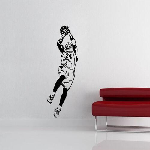Kobe Bryant 24 Fadeaway Shot Decal Basketball Player MVP Wall Sticker Home Decor
