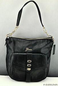 eae9ffeac FREE Ship USA Handbag GUESS Tremont Shoulder Bag Black Ladies Chic ...