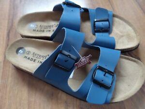 AUTENTI-BY-PENTA-Men-039-s-Double-Buckle-blue-Sandals-holiday-sun-uk-10-Leather