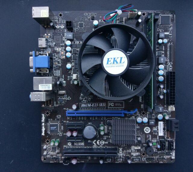 MSI MS-7680 H61M-E23, Intel Core i3 2100 3.10GHz, 4GB RAM Scheda Madre Bundle 3