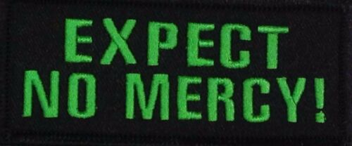 EXPECT NO MERCY MOTORCYCLE BIKER EMBROIDERED FUNNY ROCK VEST SEW//IRON PATCH B-7