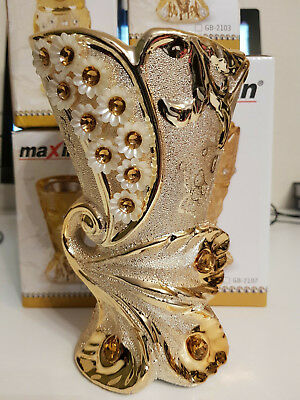 Árabe Patrón Hermoso Quemador de incienso Bakhoor Decorativo De Oro