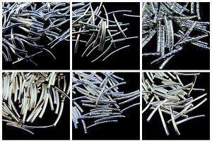 Silver-Plated-Coloured-Curved-Tube-Spacer-Beads-Many-Size-Jewellery-Craft-ML