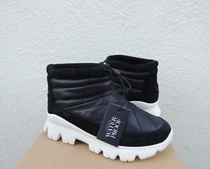 40fad139202 Details about UGG CENTARA WP BLACK NYLON/ SUEDE SHEEPWOOL WINTER ANKLE  BOOTS, US 9/ EUR 40 NIB