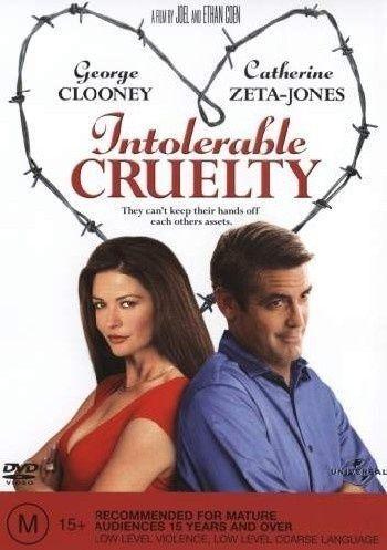 1 of 1 - INTOLERABLE CRUELTY, GEORGE CLOONEY, CATHERINE ZETA JONES, REGION 4, BRAND NEW