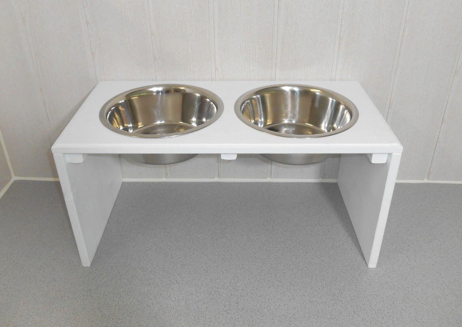 Hundenapf   Hundebar   Futternapf   Napf, Napfbar, weiß. gr. Näpfe  25cm (148)  | Meistverkaufte weltweit