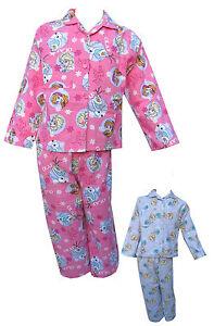 Disney-Frozen-Pyjama-Fille-Pyjamas-Anna-Elsa-Manche-Longue-Haut-amp-Bas-12m-4Years