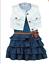 3pcs-Toddler-Infant-Girls-Outfits-Denim-dress-Vest-belt-Kids-Clothes-Set miniature 1