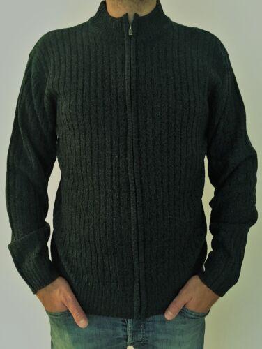 Strickjacke Herrenjacke Jacke Cardigan grün-schwarz-grau Gr.52//54 56//58 60//62