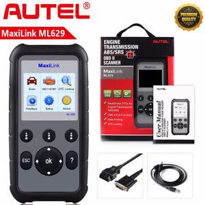 Autel MaxiLink ML629 OBD2 Scanner ABS SRS Diagnostic Tool Engine Transmission CA