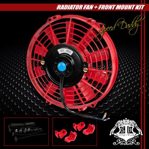 """3-ROW ALUMINUM RADIATOR+2X 9/"""" FAN KIT RED FOR 77-82 CHEVY CORVETTE 5.7//5.0 V8"""