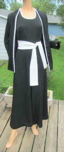 VNT 70S DOES 30S BLACK & WHITE PALAZZO WIDE LEG JU