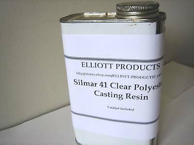 1 qt  Silmar 41 Clear Polyester Casting Resin + Catalyst