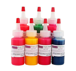 Resin Obsession bright neon color pigments - set of 7 colors epoxy ...