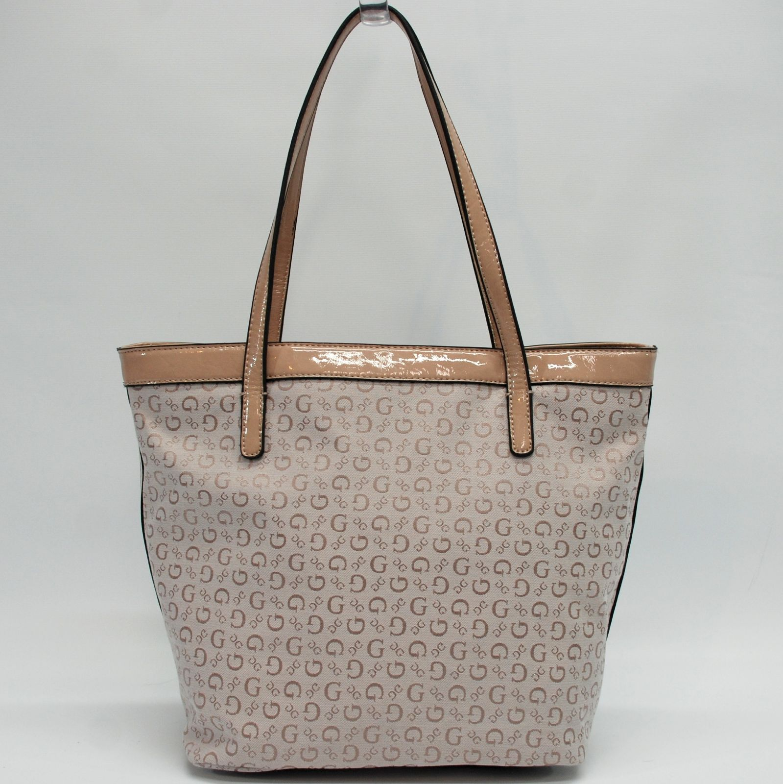GUESS Authentic Tansy Nude Signature Tote Bag Handbag Purse for sale online   9d1efd13d9a51