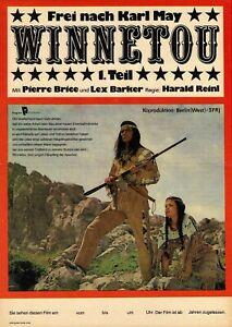 DDR-Progress-Filmplakat-Winnetou-1-Teil-034-Pierre-Brice-Lex-Barker-034-Karl-May