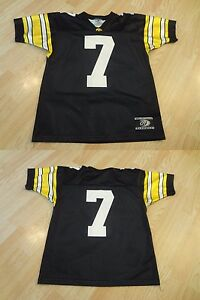 772114027 Youth Iowa Hawkeyes  7 M Football Jersey (Black) OT Sports Jersey