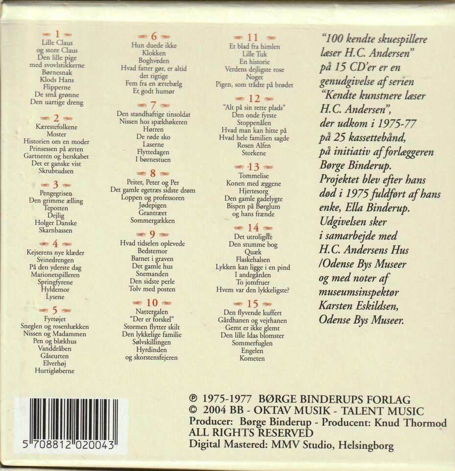 H.C. Andersen 100 Kendte skuespiller læser, 100 af H.C.