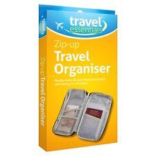 Travel Bag Wallet Document Organiser Zipped Passport Tickets ID Holder Black