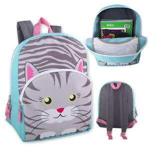 Kids-Cat-Kitten-Kitty-Backpack-School-Bag-With-Reinforced-Straps-For-Boys-Girls