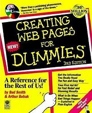 Creating Web Pages for Dummies by Bud Smith & Arthur Bebak 4th Edition Paperback
