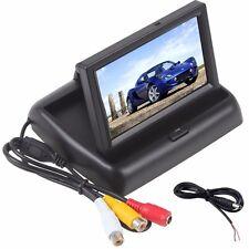 "4.3"" LCD TFT Monitor Screen Foldable Car Rear View Kit for Reverse Camera UK"
