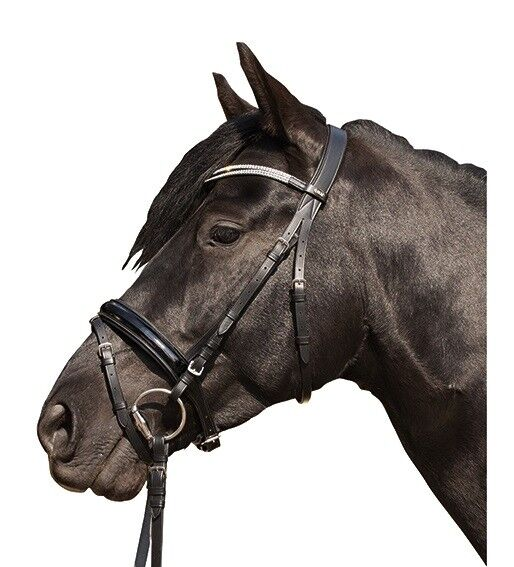 HKM Horse Cavesson Flash Bridle W Reins Starlight ALL SIZES & COLOURS