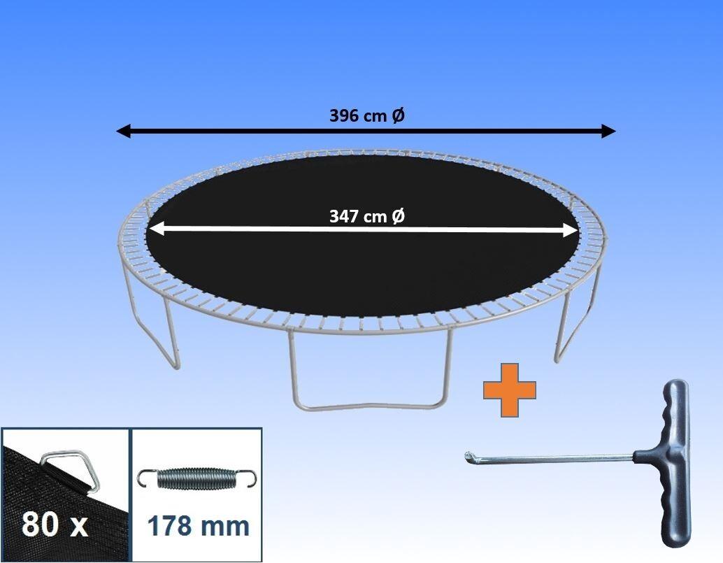 Sprungtuch Sprungmatte für Trampolin Ø 396 cm 80 Ösen Federn 17,8 cm Ersatzteile