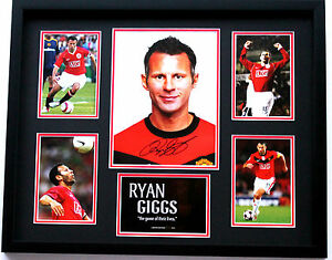 New Ryan Giggs Signed Manchester United Limited Edition Memorabilia Framed