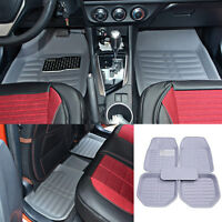 Us Universal Car Floor Mat Floorliner Front&rear All-weather Carpet Gray/grey