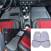 Us Universal Car Floor Mat Floorliner Front&rear All-weather Carpet Gray/grey