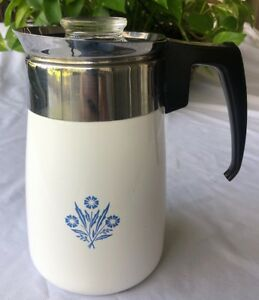 Image Is Loading Vintage Corning Ware Blue Cornflower 6 Cup Coffee