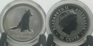 Australia-1-2-oz-50-cents-2006-Silver-Year-Of-The-Dog-Lunar-I