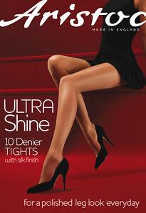 Aristoc-Bas-Collants-Ultra-Shine-Tailles-S-M-L-XL-Chair-Noir-Bnwt