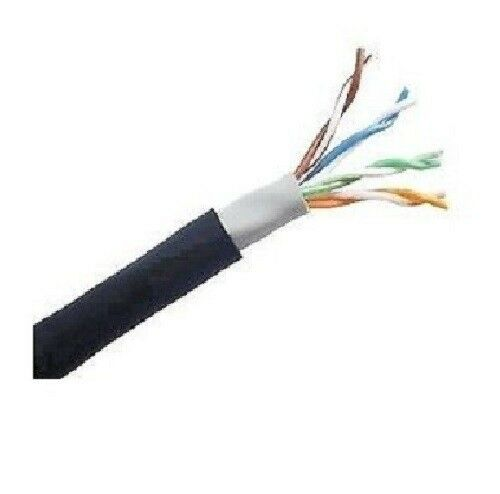 1000' Ft CAT5E 24 AWG Waterproof Outdoor Direct Burial UTP Solid Network Cable
