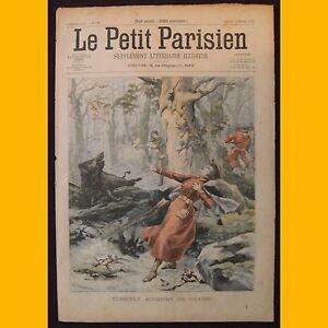 LE-PETIT-PARISIEN-Supplement-litteraire-illustre-Accident-chasse-16-fevrier-1902