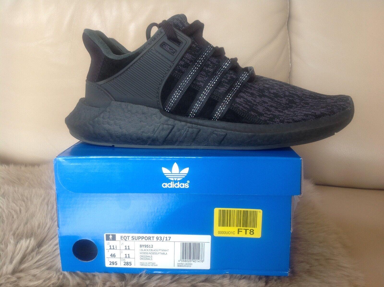 Adidas Equipment EQT boost schwarz original Turnschuhe sneaker Gr46 11 NMD yeezy