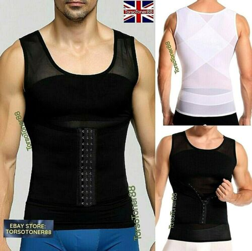 Mens Best Slimming Chest Compression Vest for Man Boobs Gynecomastia Male Breast