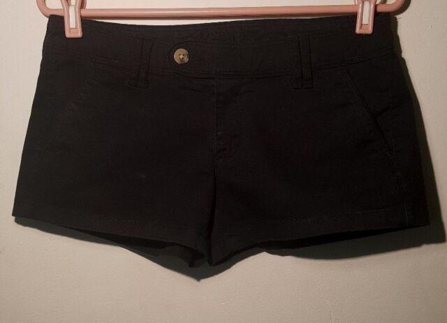 Arizona Jeans Short Women Black Flat Front Mini Size 9