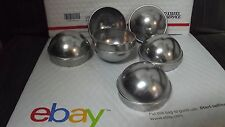 "Chain Link Fence Post Dome Caps (6pc) 3"" Brand New Die Cast Aluminum"