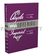 Best 1955 Chrysler Shop Manual New Yorker Imperial 300 Windsor Repair Service