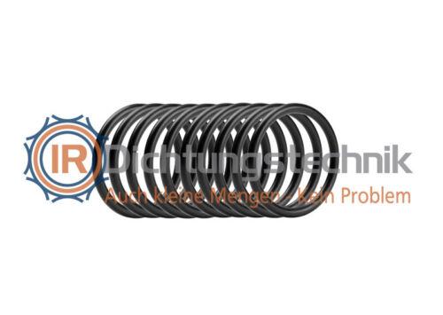 10 St. Atemregler Tauchen O-Ring Nullring Rundring 28,17 x 3,53 mm BS021 EPDM 70 Shore A schwarz