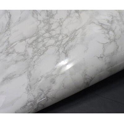 White Granite Marble Effect Vinyl Self Adhesive Peel-Stick Film * 0.5m / sample