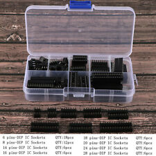 66pcsbox Dip Ic Sockets Solder Type Socket Kit 68141618202428 Pin