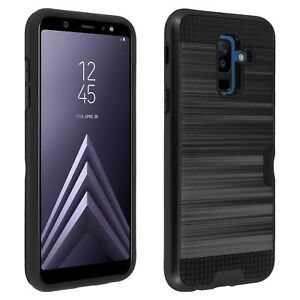 Defender-bi-materiale-Case-Card-Holder-per-Samsung-Galaxy-A6-Nero-Plus
