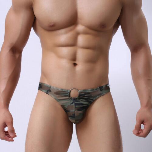Herren Unterwäsche Slips Ausbuchtungsbeutel Unterhose Männer Camouflage Bikini