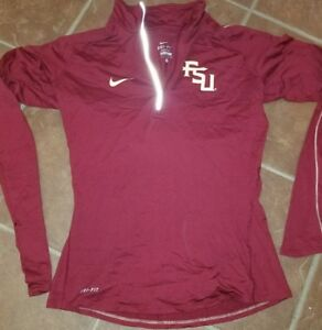 cbd6b799 Jacket sweater shirt Nike FSU dri fit 1/4 zip shirt womens Florida ...